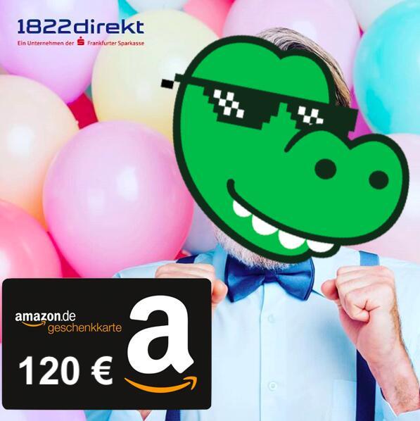 120€ Amazon Gutschein zum 1822direkt Depot für 50€ Sparplan (12 Monate) für nur Neukunden der 1822direkt