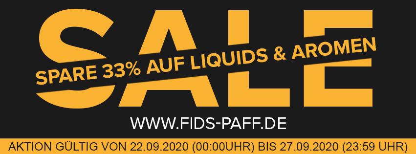 33% auf Liquids und Aromen