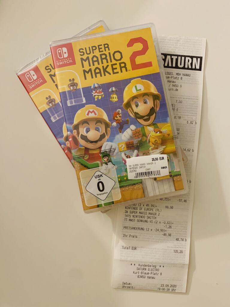 [Lokal Saturn Hanau] Super Mario Maker 2 / Nintendo Switch