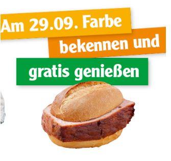 Gratis beim Metzgergrill ein Fleischkäsebrötchen abholen [ 29.09. 20 / Globus SB-Warenhaus ]