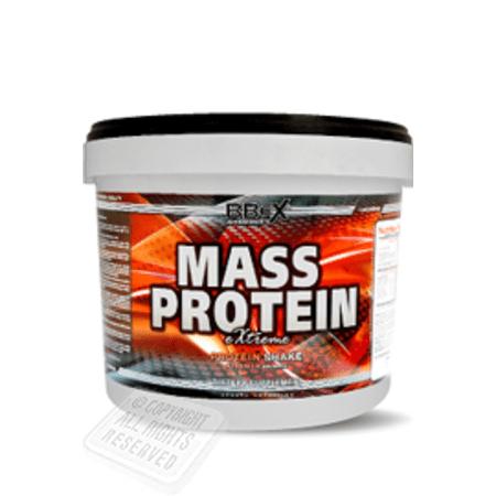 2.27kg BBeX Mass Protein eXtreme Chocolate (MHD 20.11.2020, Mehrkomponentenprotein mit 77g/100g)