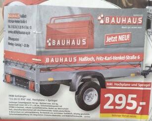 (Lokal Bauhaus Haßloch) Stema PKW-Anhänger '7.5-20-12 R10' mit Hochplane und Spriegel