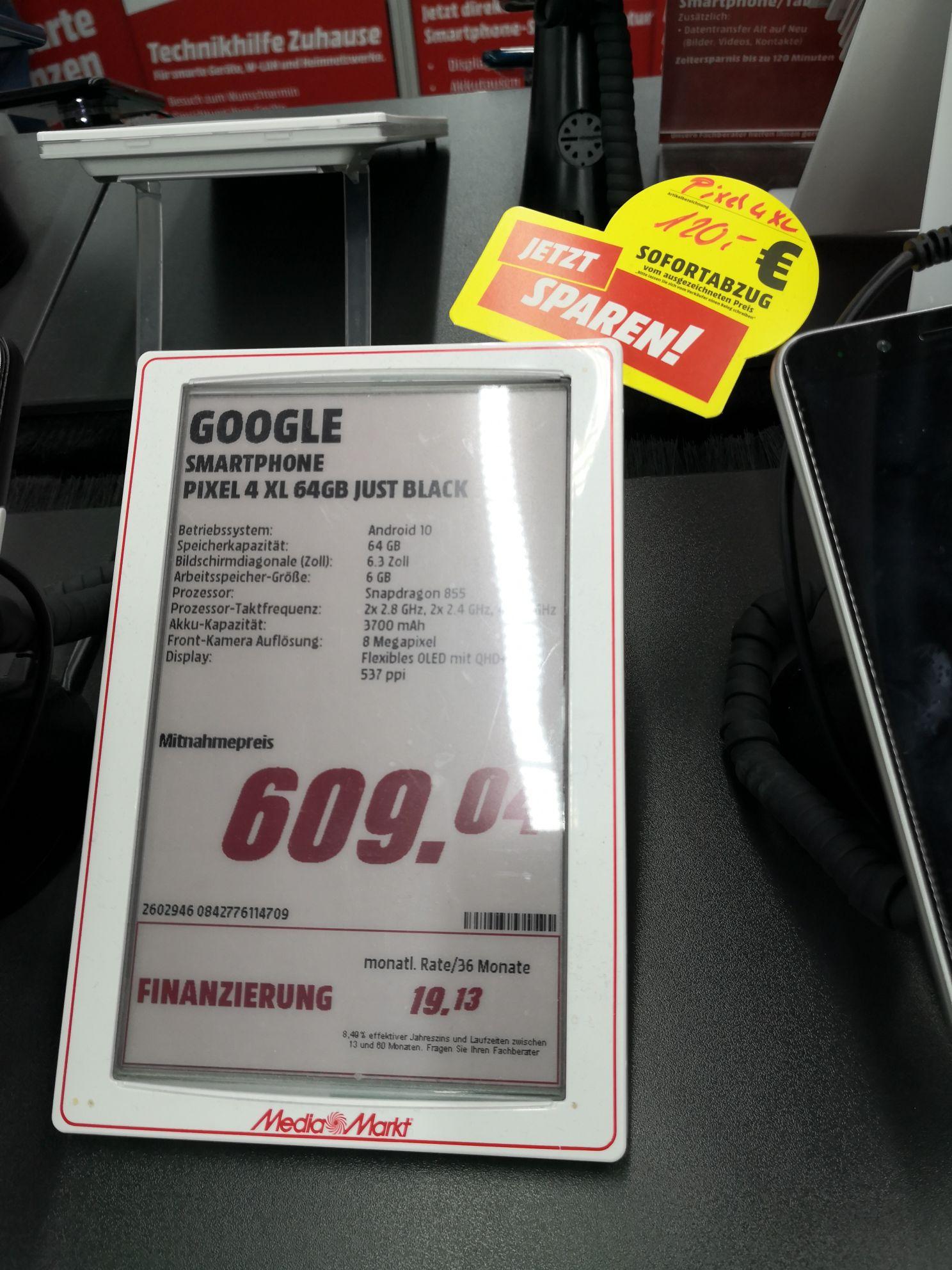 (Lokal Böblingen) Google Pixel 4 Xl 64 GB just black