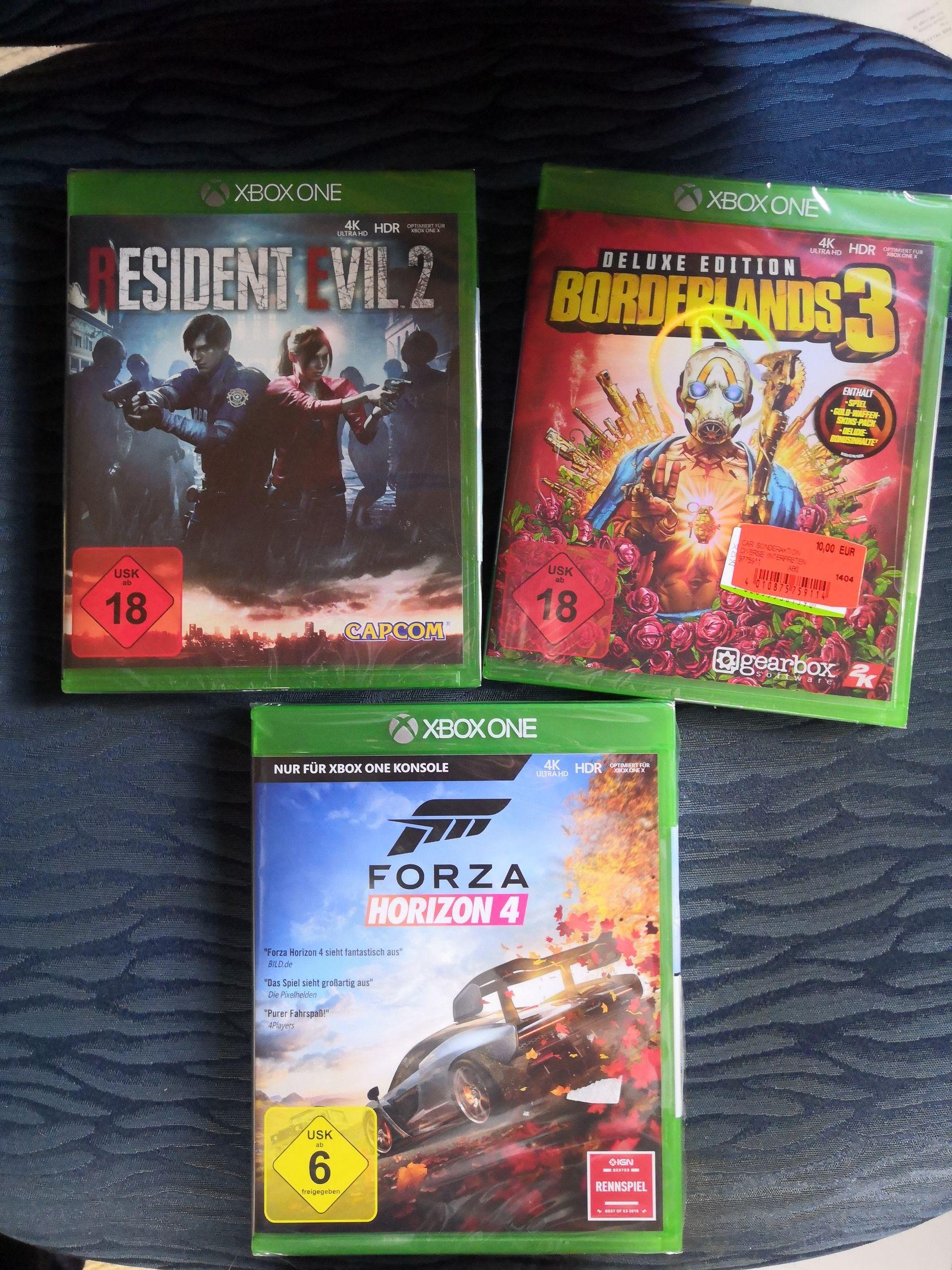 Lokal - [Media Markt Stadthagen] Forza Horizon 4, Resident Evil 2 und 7, Borderlands 3, COD Black Ops 3 und 4...Xbox One, FIFA20 (PS4) etc