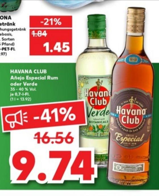 Kaufland - Havana Club Añejo Especial oder Verde 40% 0,7l