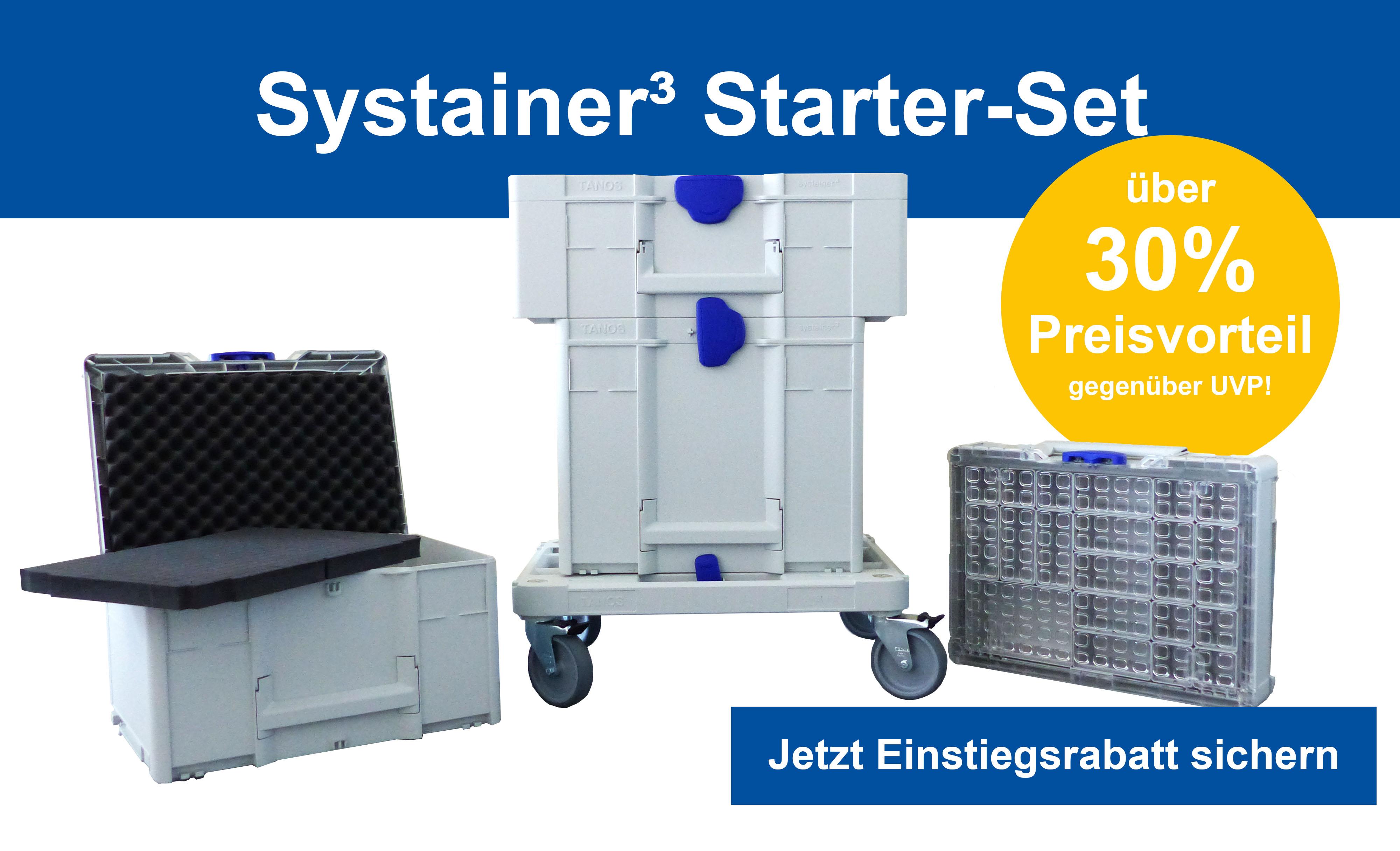 10% Rabatt bei Tanos (Der Systainer Hersteller für Festool, Mafell, Makita (Makpac) etc.)