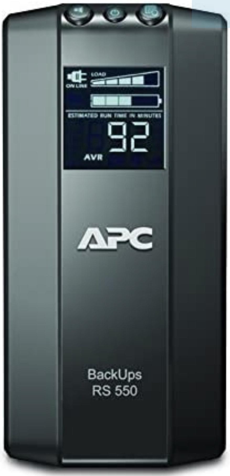 APC by Schneider Electric Back UPS PRO - BR550GI - USV 550VA Leistung (Stromsparf., Kaltgeräte Ausgänge, Display, Versicherung)