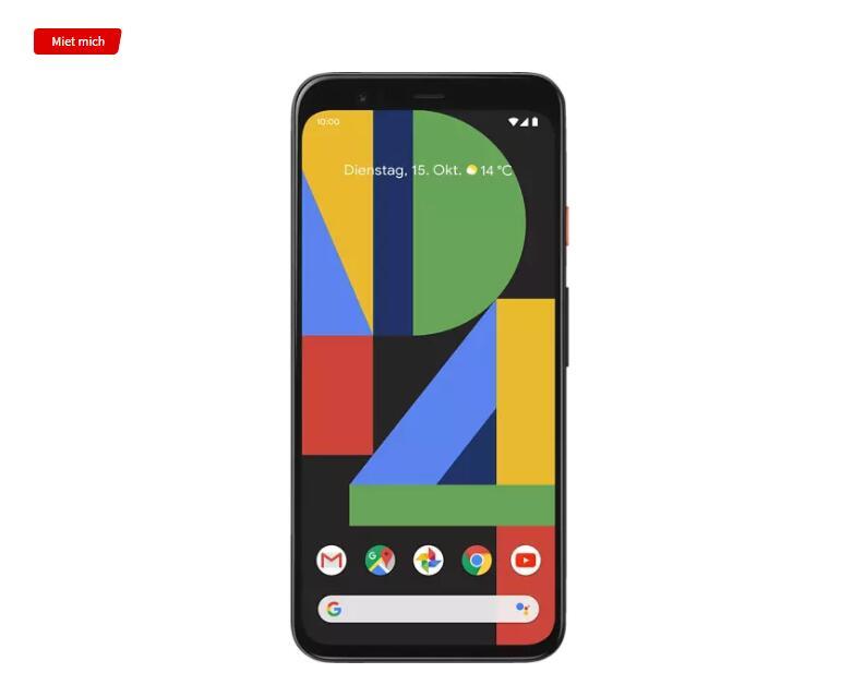 (Mediamarkt) Google Pixel 4 64GB Clearly White / Just Black Dual Sim für 419€ bei 10€ NL Gutschein Nutzung