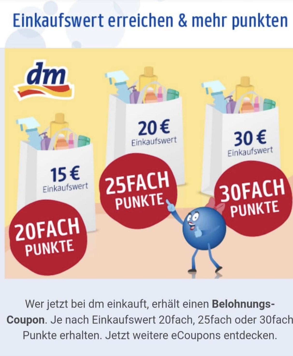 [Payback] Bis zu 30fach punkten ab 30€ Einkaufswert | 25fach ab 20€ | 20fach ab 15€