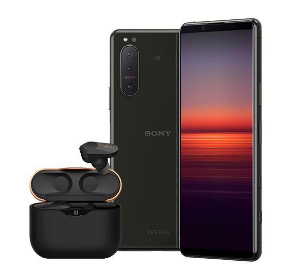 """[Sony Promotion] Sony Xperia 5 ii 5G (6,1"""" FHD+ 120Hz OLED, 163g, SD865, IP68, Klinke, NFC, 4000mAh) mit Kopfhörer WF-1000XM3"""