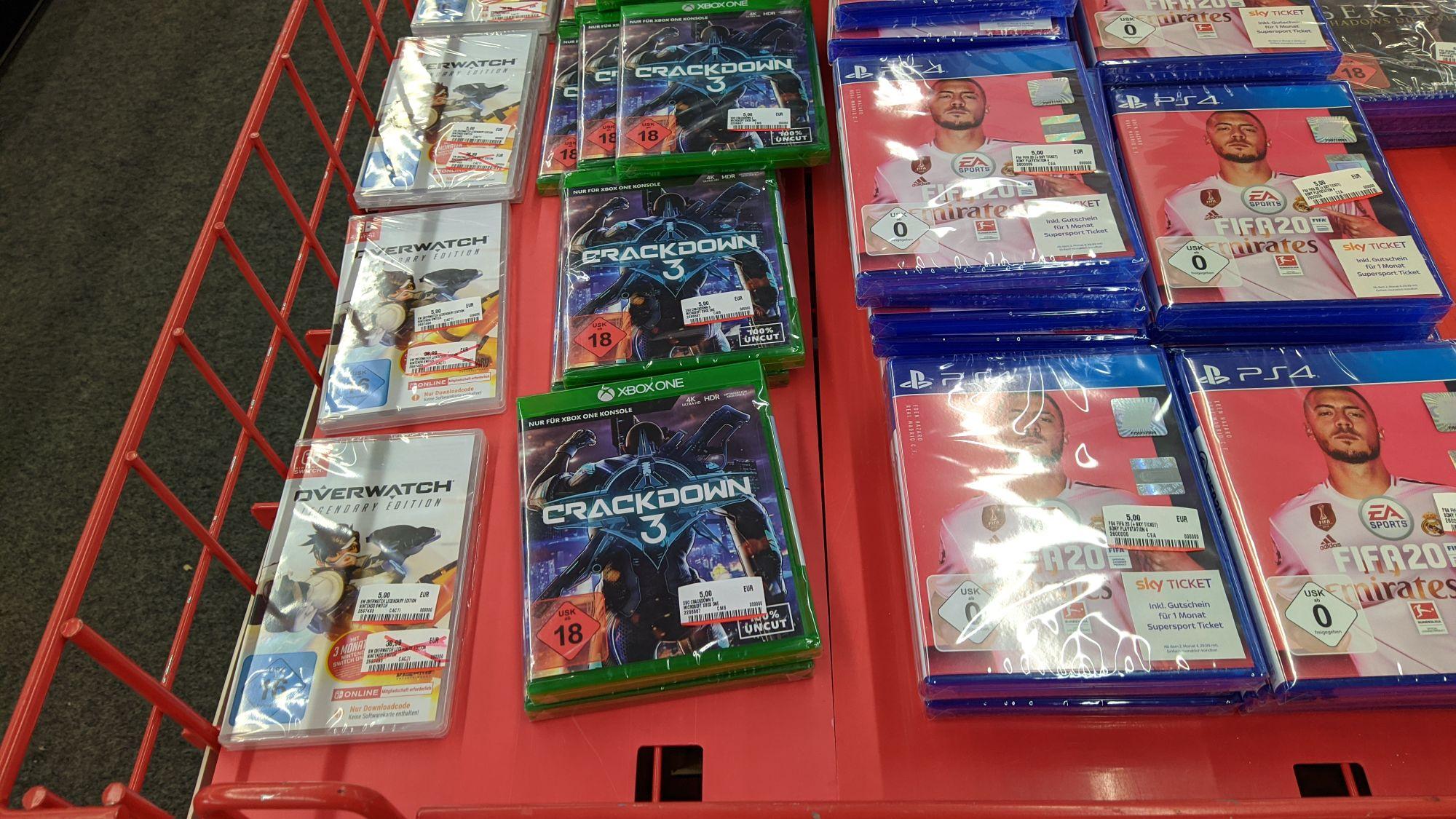 Mediamarkt Straubing diverse Spiele 5€ z.b Nintendo Switch Overwatch Legendäre Edition Sekiro Shadows Die Twice - PS4