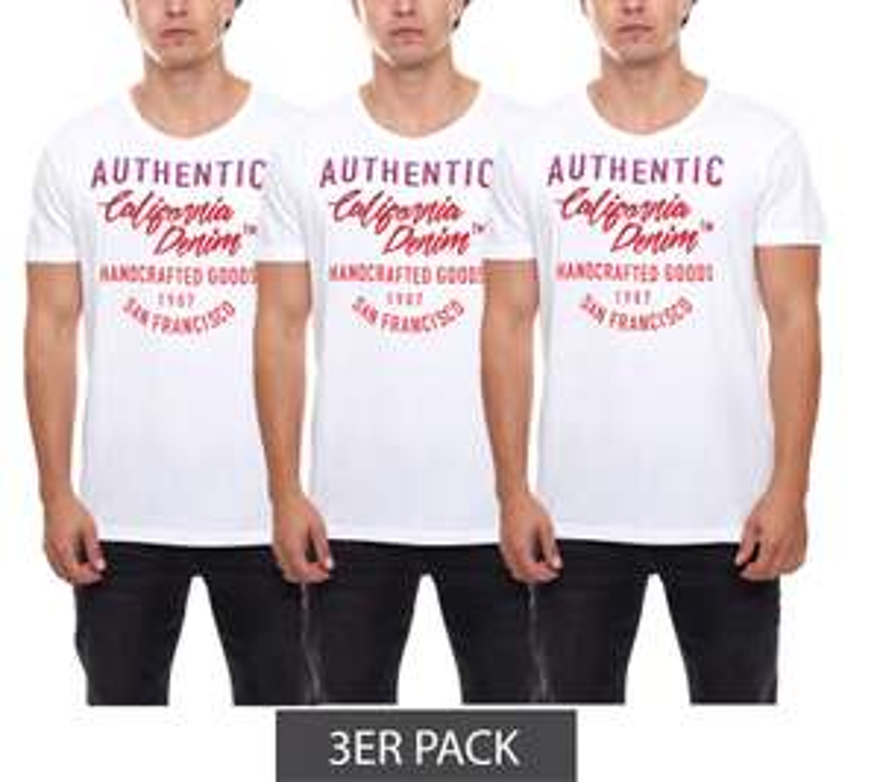 """3er Pack """"John Devin"""" T-Shirt"""