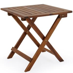 [Rewe.de] Deuba Gartentisch Beistelltisch Klappbar Holz Akazie 46x46cm