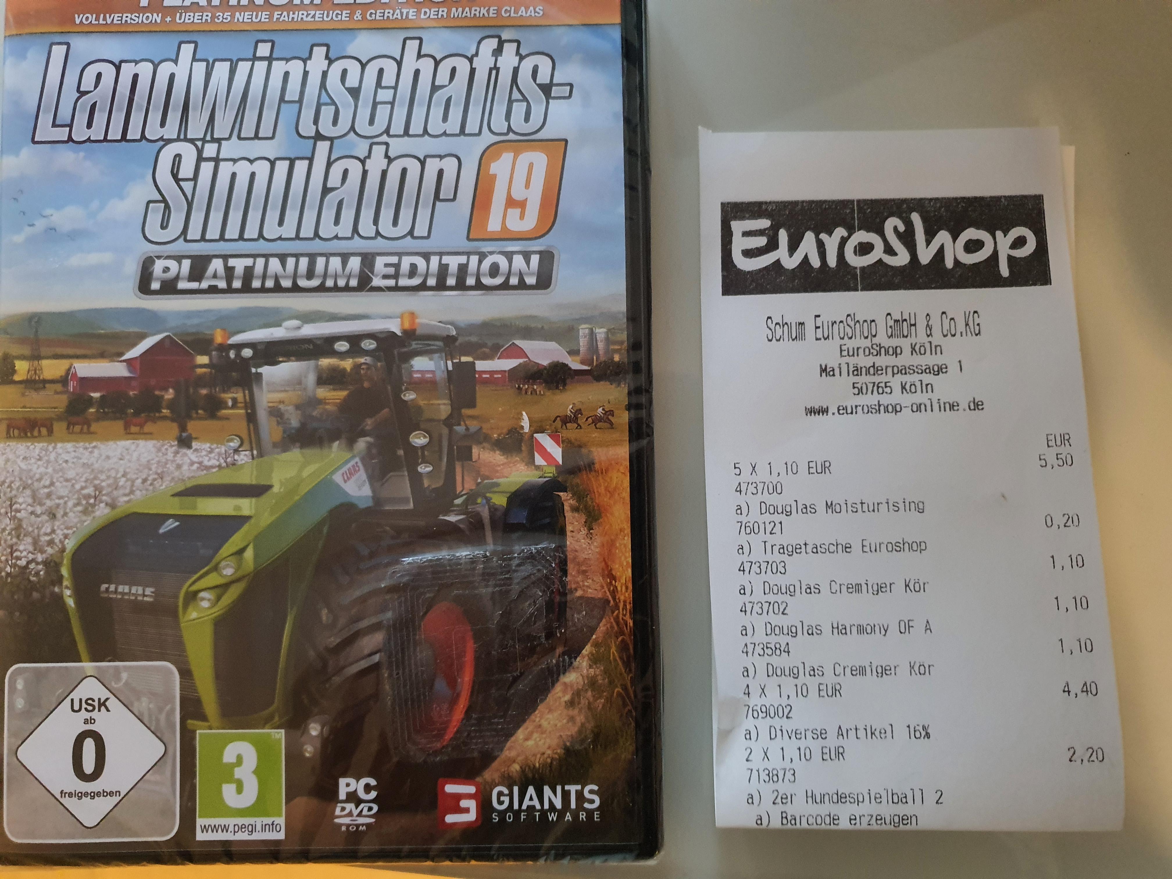 (LOKAL) Köln Chorweiler - Euroshop - Landwirtschafts-Simulator 19 Platinum Edition