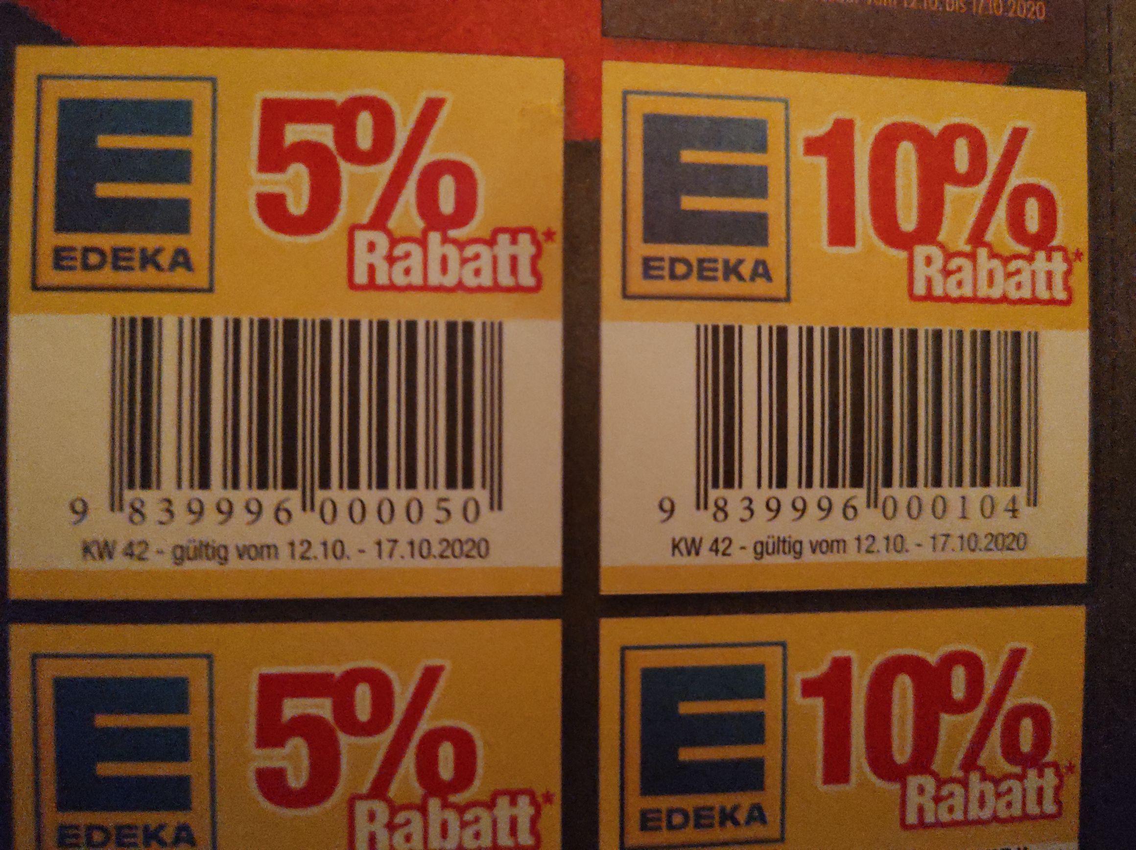 Edeka Kleberabatt 10% auf ein Produkt