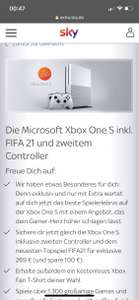 Sky Extra / Xbox One S inkl. 2 Controller und Fifa 21 + T-shirt