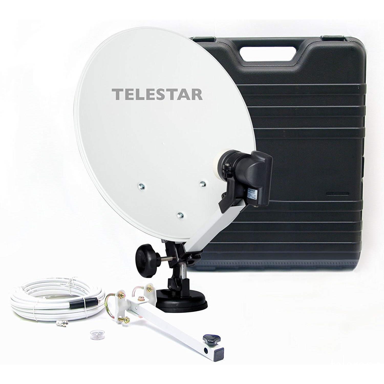 Camping-Sat-Anlage mit full HD Sat-Receiver DB 6 S HD (Hartschalenkoffer, 13,7 Zoll (35 cm) Spiegel