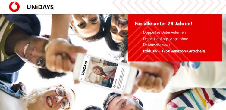 *Für Studierende* Fetter 175€-Amazon-Gutschein mit Vodafone-Handyvertrag, AllNet-Flat + Young M mit 20 GB