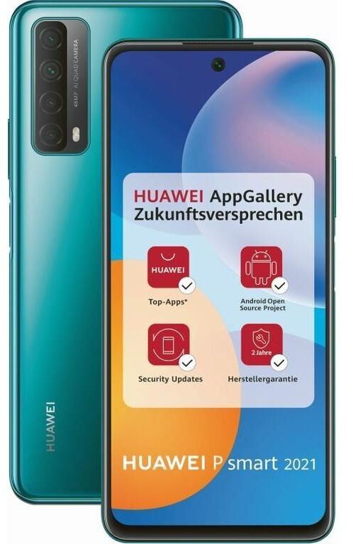 Huawei P Smart 2021 (in schwarz, grün oder gold) + Huawei Freebuds 3i (in weiß) für 191,29€