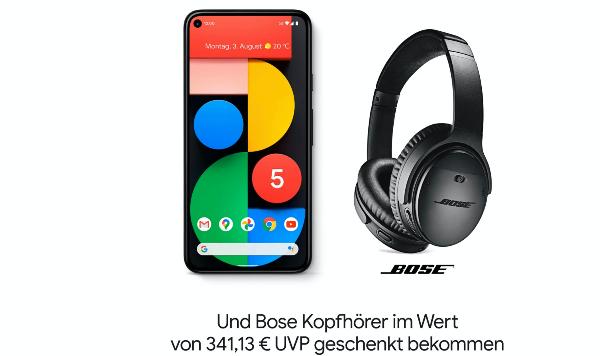 //klarmobil// NUR NOCH HEUTE bis 23:59 UHR - Google Pixel 5 128GB + Bose QC 35 II Kopfhörer // Allnet Flat 10GB // D-Netz //