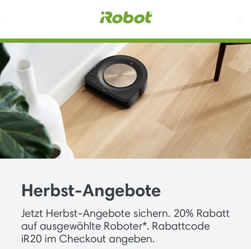 IRobot Saugroboter mit 20% Rabatt