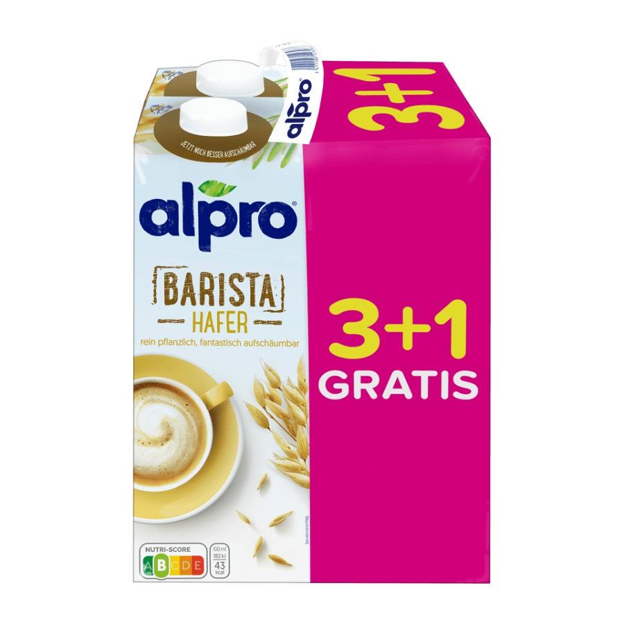 alpro Barista Hafer 4x 1L Packung für nur 4,32€ / 1,08€ pro Liter / vegan [ALDI-NORD]