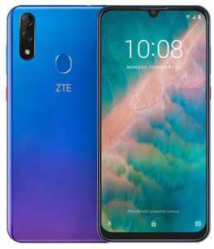 "(ALDI TALK) ZTE Blade 10 Smartphone 6,3"" FHD+, 4/64 GB, Octacore-Prozessor, 32 MP AI-Selfie- 16+5 MP Hauptkamera, Dual-SIM, Android 9, Blau"
