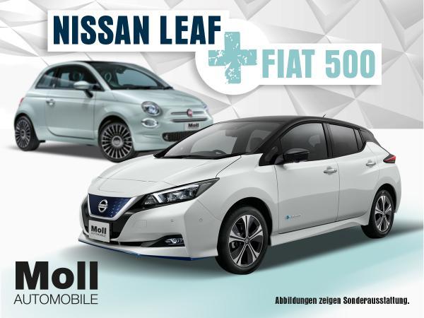 Privatleasing: 2 Jahre Nissan Leaf + 4 Jahre Fiat 500 (sofort verfügbar) für insgesamt 5573€