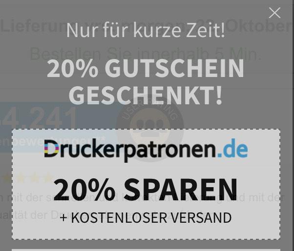 20% auf Druckerpatronen