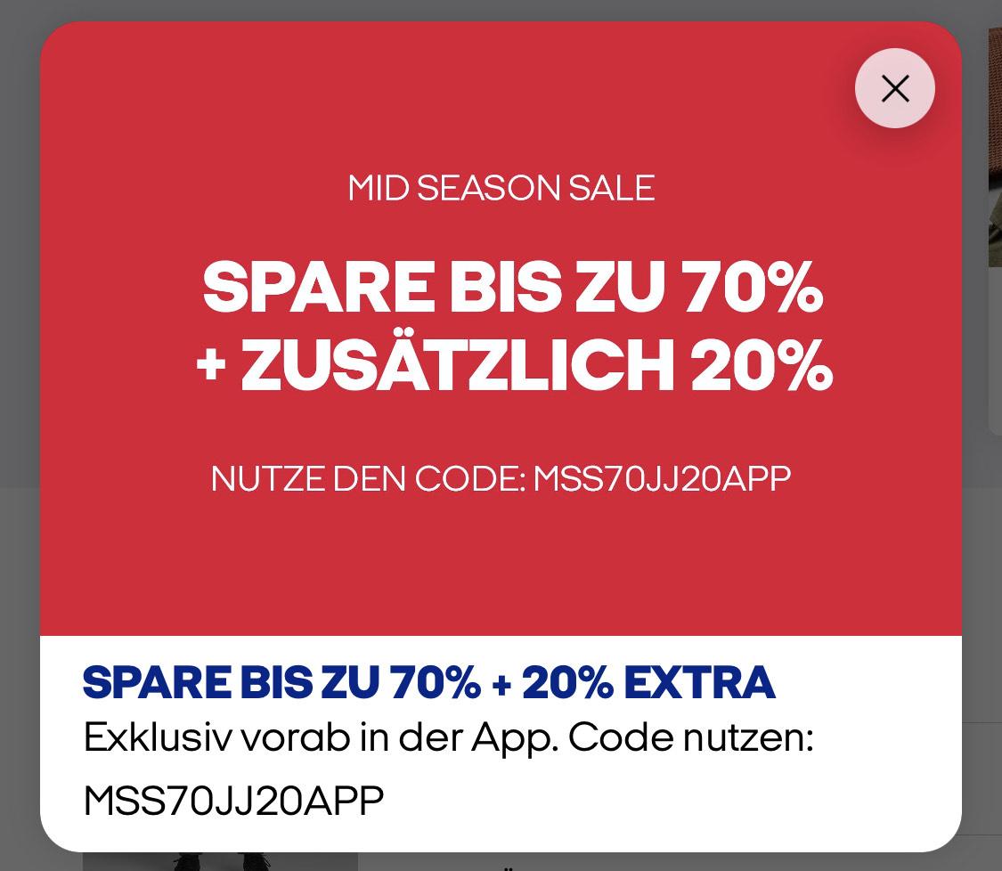 Zusätzlich 20% auf den Mid-Season-Sale