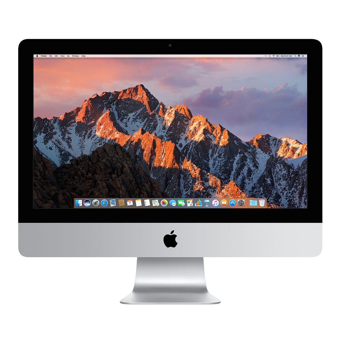 APPLE MMQA2D/A iMac, All-In-One-PC mit 21 Zoll Display, Core i5 Prozessor, 8 GB RAM, 1 TB HDD, Intel® Iris™ Plus-Grafik 640, Silber