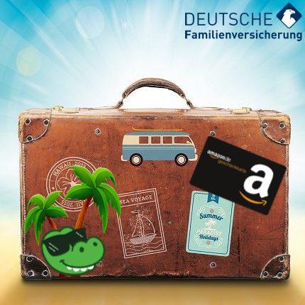 Eff. 10€ Gewinn durch 30€ / 50€ Amazon Gutschein für 1 Jahr Auslandsreisekrankenversicherung der DFV (60 Tage, weltweit, Singles & Familien)