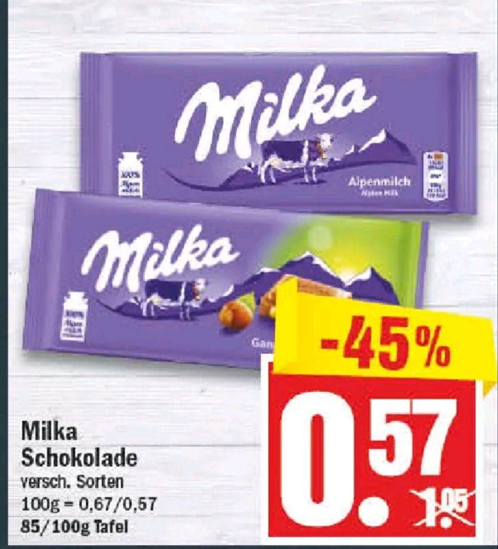 Milka Schokolade 85 & 100 g