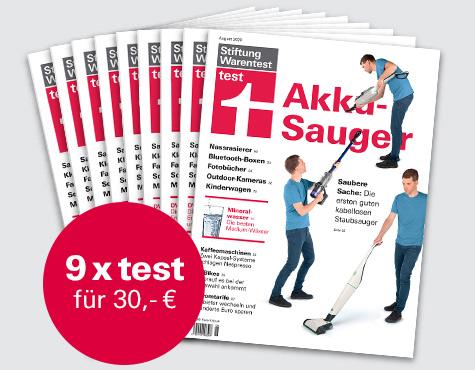 Warentest Abo (9 Hefte) + Notizbuch + Buch Schnelle Hilfe im Pflegefall (iWv 16,90€) oder + Buch Besser essen nebenbei (iWv 16,90€) für 30 €