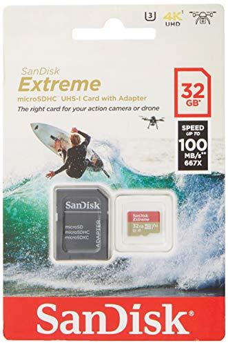 [Amazon Prime] SanDisk Extreme microSDHC 32 GB UHS-I bis zu 100 MB/s, 60 MB/S schreiben, mit SD Adapter