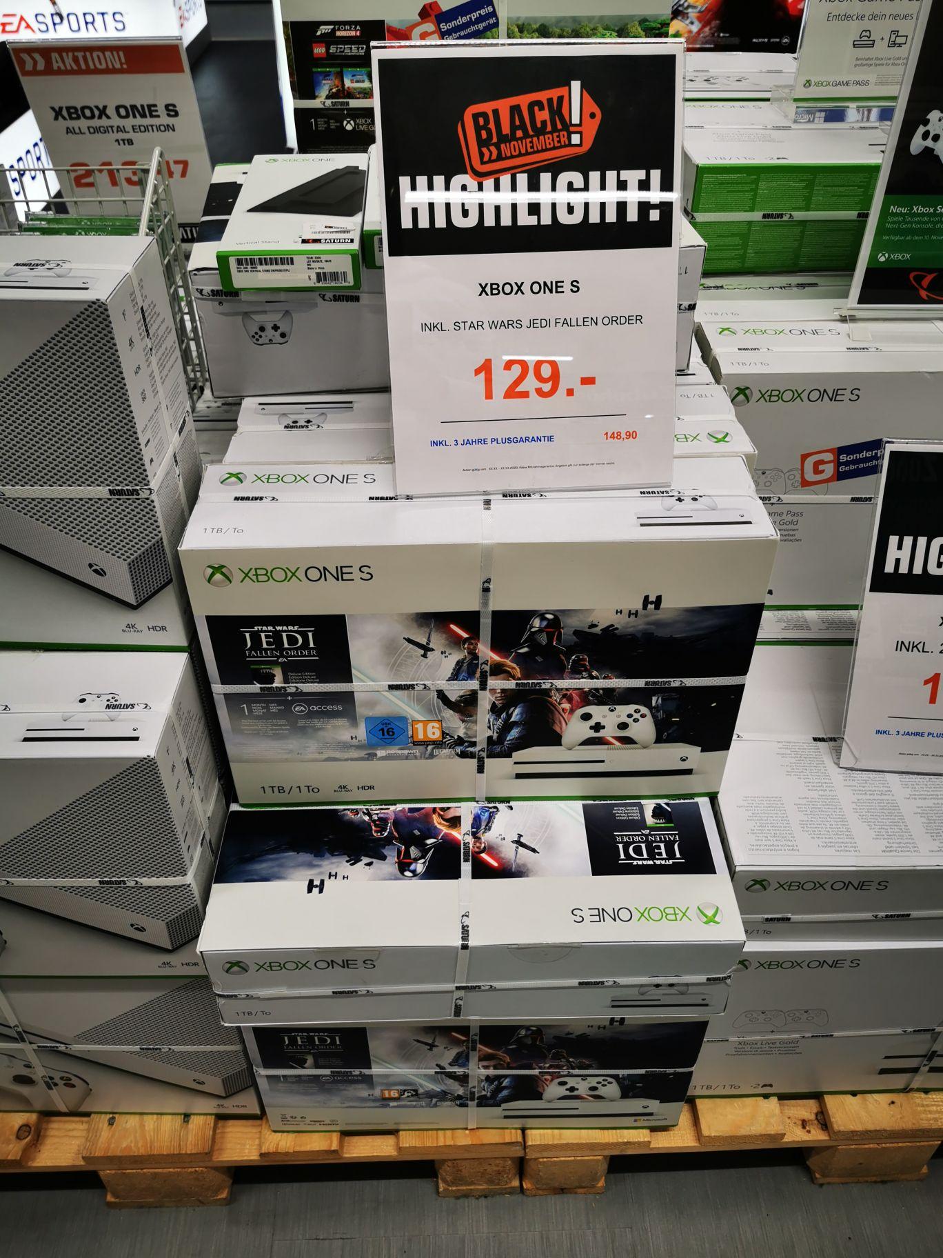 Lokal Saturn Köln City - Xbox one s 1tb mit jedi fallen order ODER mit 2tem controller