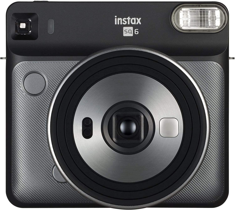 Fujifilm Instax Square SQ6 EX D analoge Sofortbildkamera (Echtbildsucher, Fixfokus, Brennweite 66 mm) Graphite Grau