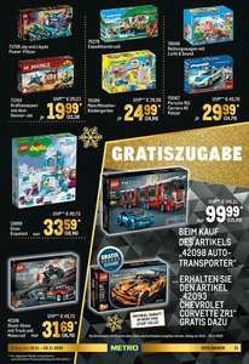 LEGO Technic - Autotransporter (42098) mit 2 in 1 Chevrolet Corvette ZR1 (42093)