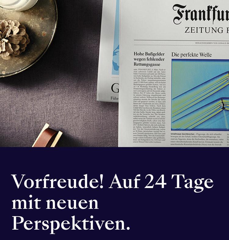 24 Ausgaben FAZ 24€ im Dezember