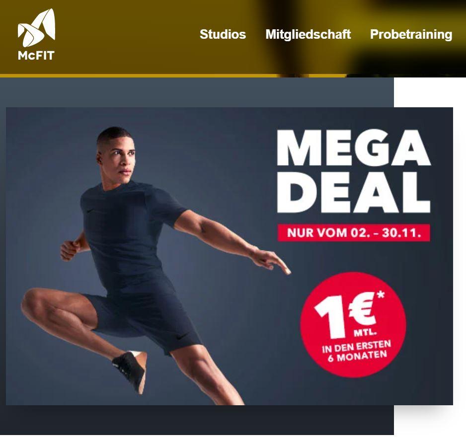 McFIT Vertrag 12 Monate 15,42€/Monat mit, 17,92€ ohne Studiobindung