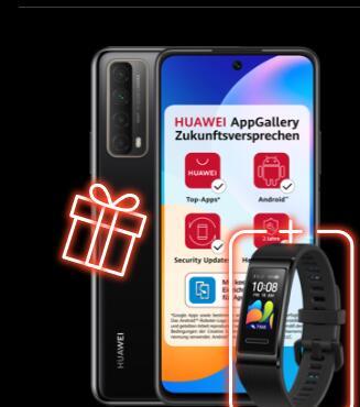 Huawei P smart 2021 + Huawei Band 4 Pro im Blau Allnet L 5GB LTE für 12,99€ monatlich + 13€ einmalig + 40€ Cashback