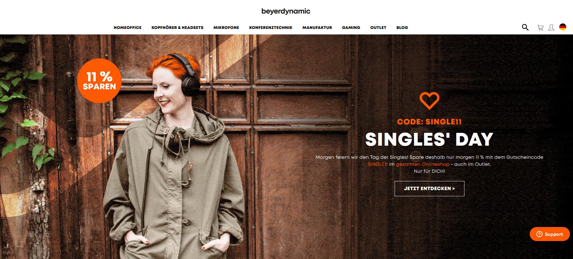 Singles Day bei beyerdynamic - 11% auf alles im Onlineshop - MMX 300 Gaming-Headset (2. Generation)