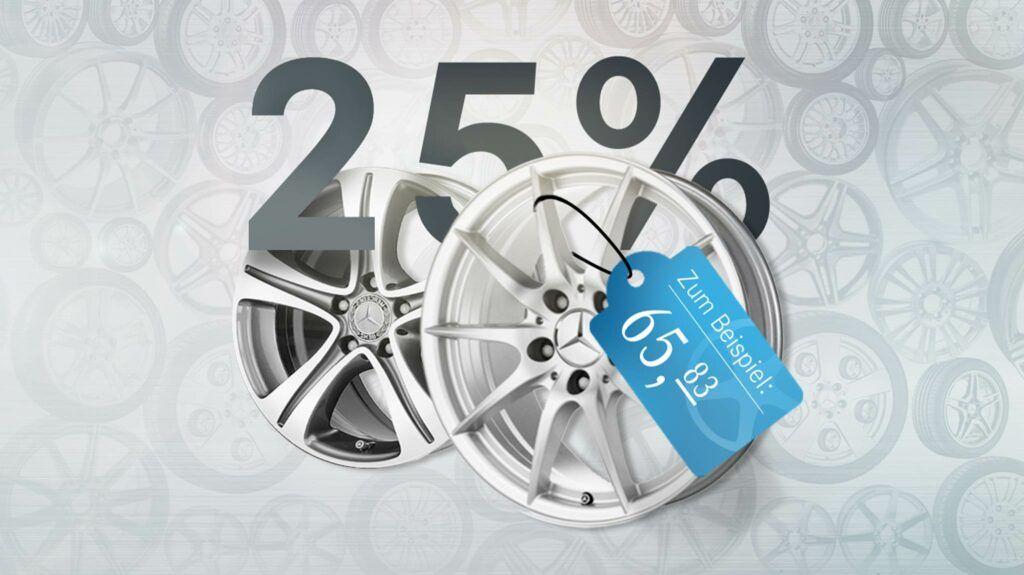 25% auf Mercedes Felgen
