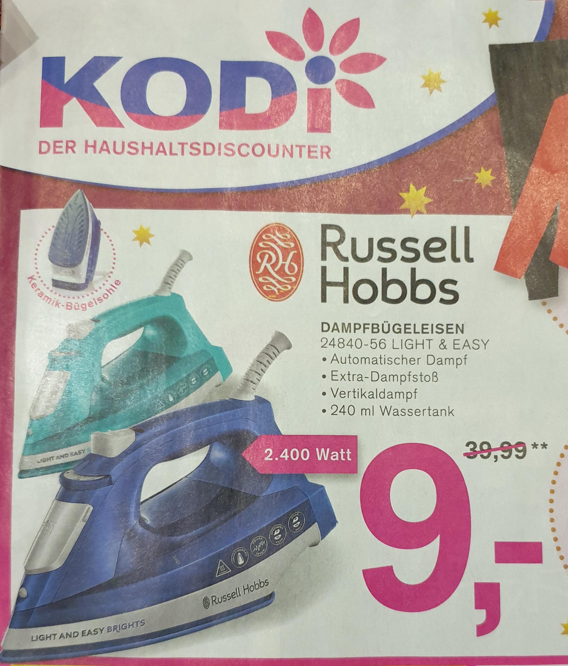 [ Kodi ] Russell Hobbs Dampfbügeleisen 2400W / 24840-56 Light&Easy Brights
