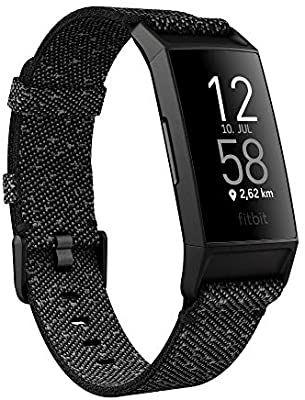 Fitness-Tracker Fitbit Charge 4 Special Edition mit GPS, Schwimmtracking, bis zu 7 Tage Akkulaufzeit und einem zusätzlichen Armband, Granit