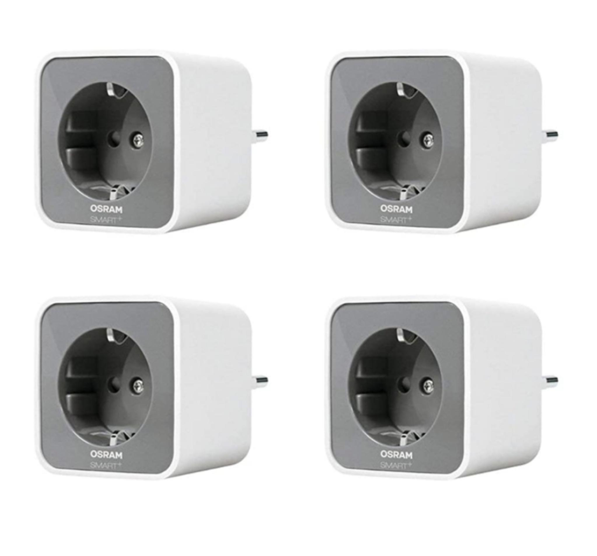 OSRAM Smart+ Plug, ZigBee schaltbare Steckdose | 4er Pack