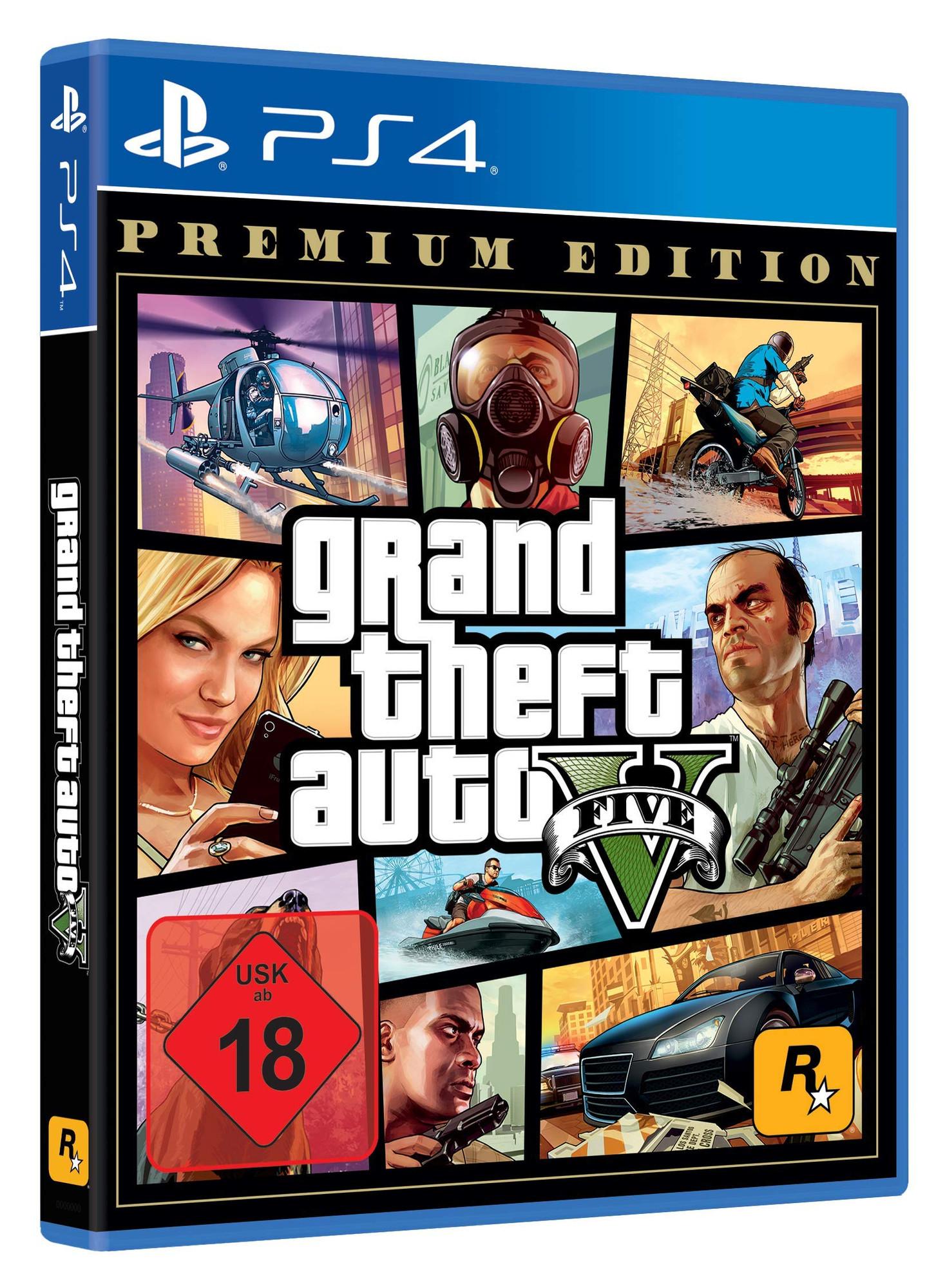 Grand Theft Auto V Premium Edition (PS4, englische Sprache, deutsche Untertitel, Metacritic 97/8.4)