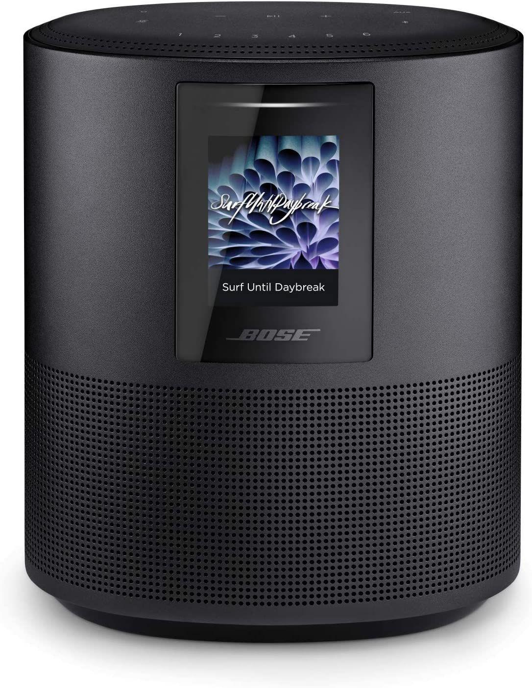 Bose Home Speaker 500 - 2.0 Stereo-Smart-Speaker (App-steuerbar, WLAN, Bluetooth, AirPlay, Alexa, Multiroom)