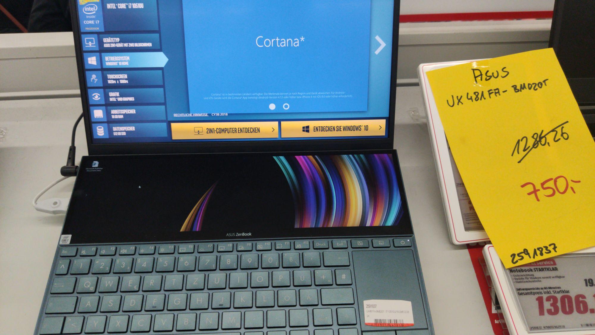Asus ZenBook Duo (UX481) Local Mediamarkt Nienburg Weser