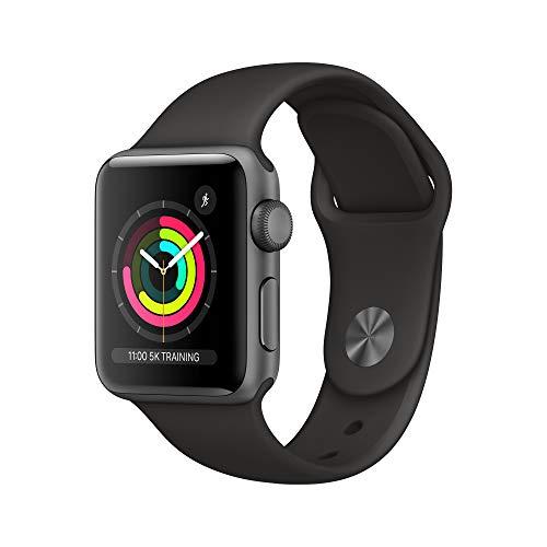 APPLE Watch 3 GPS 38 mm schwarz Sportarmband bei Amazon UK WHD (auch weiß und 42 mm)